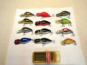 12 - Vintage Storm Fishing Lures - Wiggle Wart And 1 Wart - Beautiful Condition