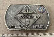Boy Scout High Adventure National Award Belt Buckle Charles L Sommers Canoe Base