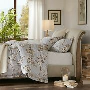 Harbor House King Upholstered Sleigh Bed In Taupe Finish Hh115-0139