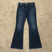 Mother Size 29 The Weekender Fray Sweet And Sassy Flared Blue Denim Jeans