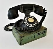 1930s Antique Telephone W Box Bell System Western Electric F1 Rotary Desk Phone