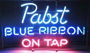 New Pabst Blue Ribbon On Tap Neon Sign Home Decor Bar Pub Gift 20x16