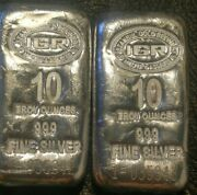 Lot Of Two Igr 10 Oz Poured Silver Bars Sealed In Succession