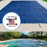 Rectangle Swimming Pool Cover Padding Dustproof For Outdoor Garden Family Pools