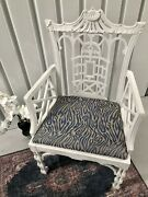 Antique Chinese Chippendale Fretwork Chair Chinoiserie