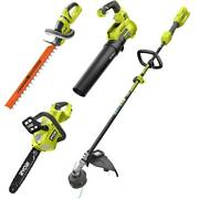 40v Cordless Attachment Capable String Trimmer With Leaf Blower, 24 In. Hedge
