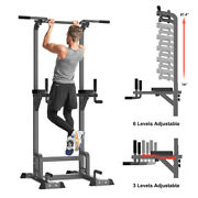 Oxygie Power Tower Dip Station Pull Up Bar Adjustable Workout Equipment 500lbs