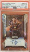 2018 Panini Prizm Trae Young Fast Break Auto Refractor Rookie Rc Psa 10 Gem Mint