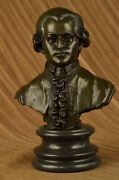 Large 13 100 Bronze Marble Stand Wolfgang Amadeus Mozart Statue Stand Decor