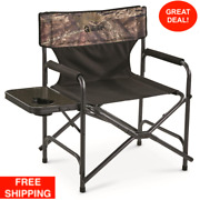 Oversized Director Camp Chair 500 Lb Capacity Cup Holder Camping Picnic Outdoor