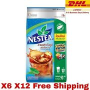Nestea Unsweetened Instant Hot Iced Tea Powdered Drink Mix Suger Free X6 X12 90g