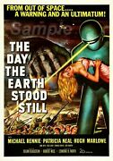 357967 Vintage The Day The Earth Stood Still Movie Print Poster