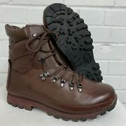 Womens Altberg Brown Leather Combat Defender Boots Size 9 Medium British Army
