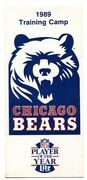 Chicago Bears Nfl Training Camp Roster And Season Schedule 1989