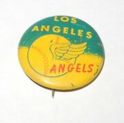1965 Baseball Guy's Potato Chips Pin Coin Button Los Angeles Angels Pinback