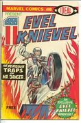 Evel Knievel 1974-marvel-1st Issue-ideal Toys Promo Comic-motorcycle Cover-vf-