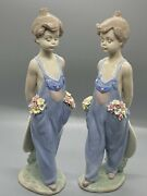 Set Of Two Lladro Pocket Full Of Wishes 7650 Figurines, Mint Condition