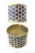 Antique Russian Silver Champleve Enamel Napkin Ring. Height Is 1.5 Bitcoin