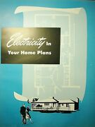 1947 Los Angeles Dept Of Water And Power Home Electricity Planning Vintage Catalog