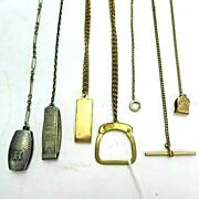 Set Of 6 Vintage Brass Watch Fobs Hickok