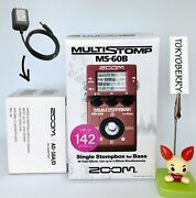 Zoom Ms-60b Multi-stomp Bass Effects Pedal W/ Ac Adapter New In Stock From Japan