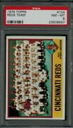 1976 Topps 104 Sparky Anderson - Reds Team Psa 8 - Nm/mt