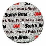 Deburr And Finish Pro Unitized Wheel, 3 In X 1 In X 1/4 In 6c Med+