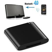 Bluetooth 4.1 Music Audio Receiver Adapter 30 Pin Dock Speaker For Iphone Ipod