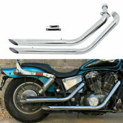 Shortshots Staggered Exhaust Pipe For Honda Shadow 1100 Vt1100 Ace Aero All Year