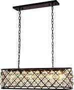 Madison Pendant 6-light Crystal Clear Polished Nickel Clear Royal-cut F
