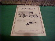 Operating Manual For Admiral Radio Phonograph Console