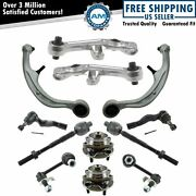 12 Piece Steering And Suspension Kit Control Arms Wheel Bearings Tie Rods New