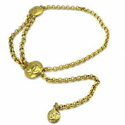 Belt Vintage Coco Mark Chain Gp Gold Women And039s Box Staple No.7152