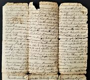 1792 Antique Deed Sanford Me Mousam River Handwritten Frost To Bodwell Land