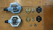 Crank Brothers Bros Candy 7 Chrome Silver Cycling Bike Pedals With Cleats