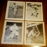 1940s Baseball Magazine Inside Covers Pictures W/musial, Reese - 16 In All