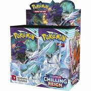 Pokemon Sword And Shield Chilling Reign Booster Box New Sealed - Ships 06/18/21
