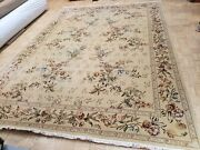 10x14 Chinese Rug Silk And Wool Sino Aubusson Ivory 100 Wool Oriental Fine Rug