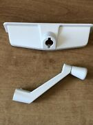 New Nip Truth Casement Window Crank Handle And Cover - 45054 -white Metal 2 Pieces