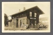 Nordness Iowa Rppc And03910 Depot C.r.i. And P. Rr Train Station Ghost Town Nr Decorah
