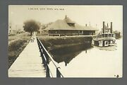 Ripon Wisconsin Rppc C1910 Depot C.and N.w. Rr Cnw With Add-on Steamboat Nr Waupun