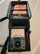 Vintage Simpson Analog Volt Ohm Meter Milliammeter In Case With Test Leads