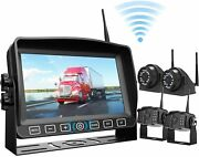 """Wireless Car Backup Camera 7"""" Monitor Recorder Waterproof View System Fhd Tw4"""
