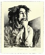 Bob Marley 40th 1 Soul Rebel Signed And /450 Letterpress Obey Shepard Fairey Auto
