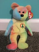 Peace Ty Beanie Baby, Retired 1996, Rare With Tag Errors