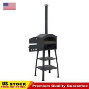 Garden Outdoor Pizza Cake Oven Charcoal Fired With 2 Fireclay Stones Thermometer