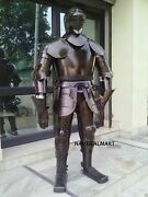 Greek Knight Suit Of Armor Medieval Wearable Copper Costume Collectible Item