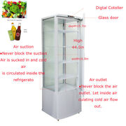 110v 62gallon Vertical Refrigerated Cake Display Cabinet Automatic Defrosting Us