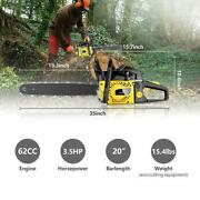 62cc 3.5hp Guide Board Chainsaw Gasoline Powered Handheld Chain Saw