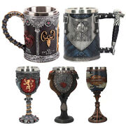Beer Mugs Coffee Cups 3d Gothic Goblet Tankard Stainless Steel Resin Wine Gifts